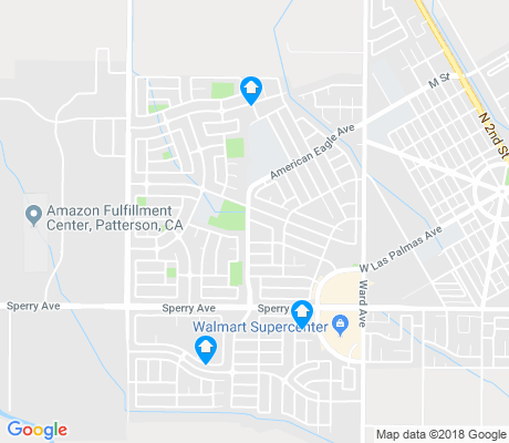 map of Patterson apartments for rent