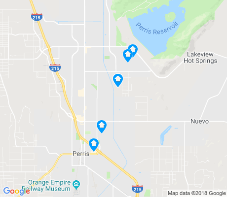 map of Perris apartments for rent
