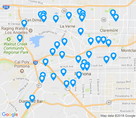 map of Pomona apartments for rent