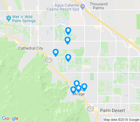 map of Rancho Mirage apartments for rent