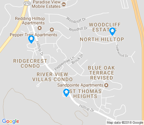 map of Bluffs apartments for rent