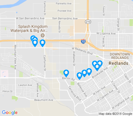 map of West Redlands apartments for rent