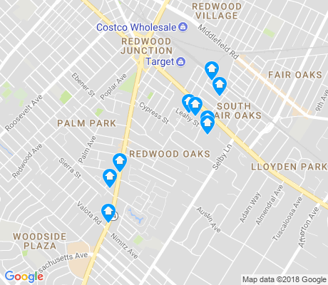 map of Redwood Oaks apartments for rent