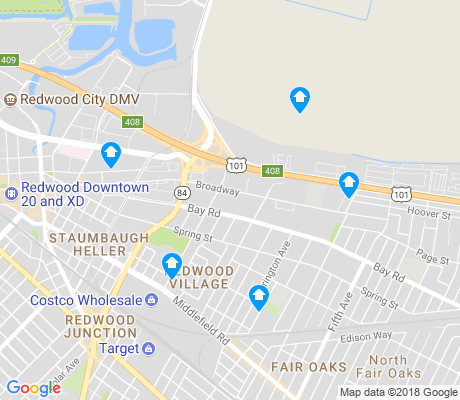 map of Redwood Village apartments for rent