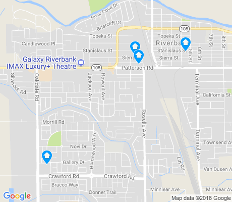 map of Riverbank apartments for rent