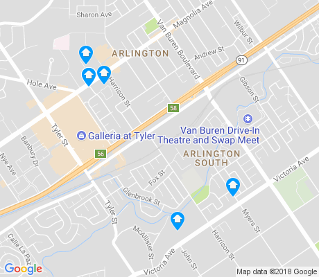 map of Arlington South apartments for rent