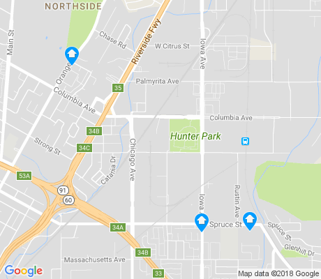 map of Hunter Industrial Park apartments for rent