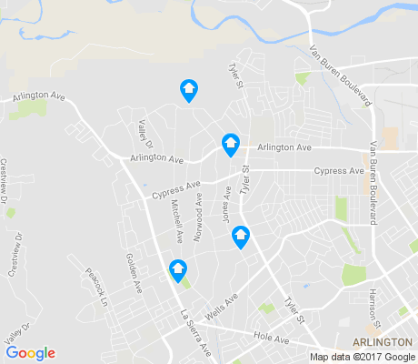 map of La Sierra Acres apartments for rent