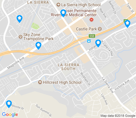map of La Sierra South apartments for rent