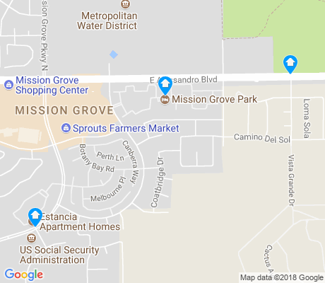 map of Mission Grove apartments for rent