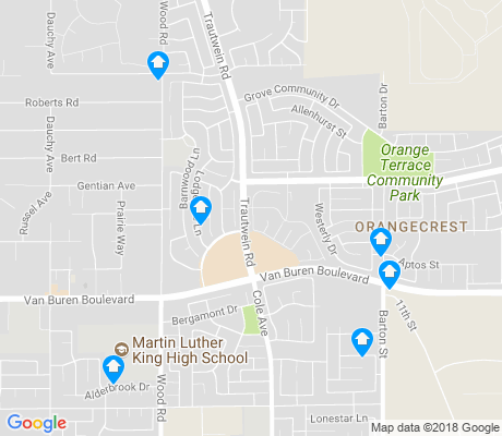 map of Orangecrest apartments for rent