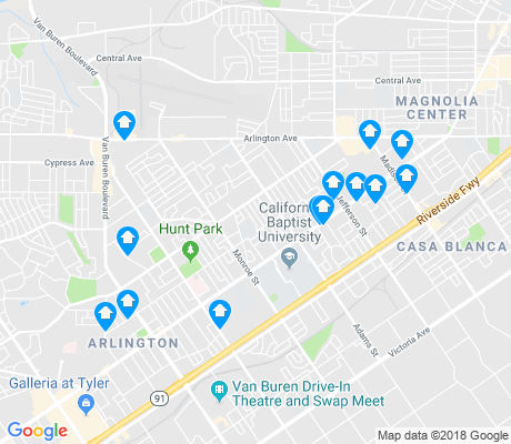 map of Ramona apartments for rent