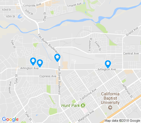 map of Riverside Airport apartments for rent
