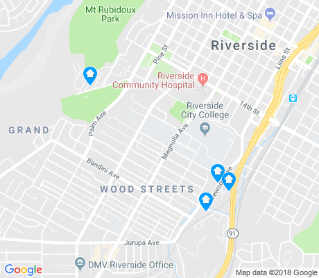 map of Wood Streets apartments for rent