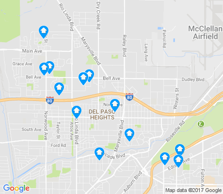 map of 95838 apartments for rent