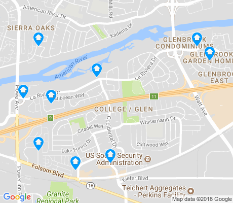 map of College-Glen apartments for rent
