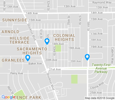 map of Colonial Heights apartments for rent