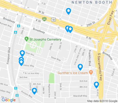 map of Curtis Park apartments for rent
