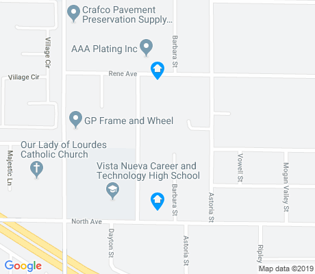 map of East Del Paso Heights apartments for rent