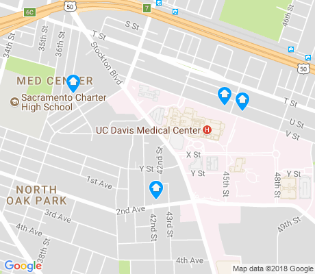 map of Med Center apartments for rent