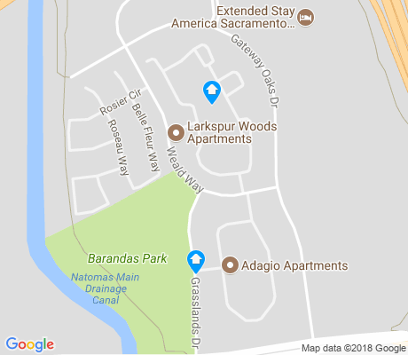 map of Metro Center apartments for rent