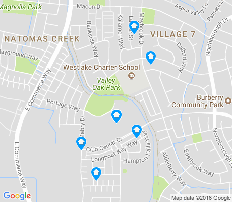map of Natomas Creek apartments for rent