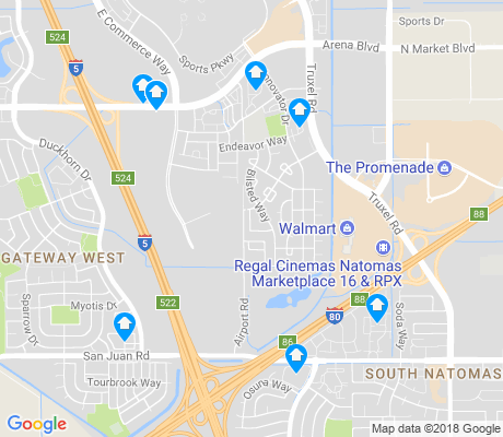 map of Natomas Crossing apartments for rent