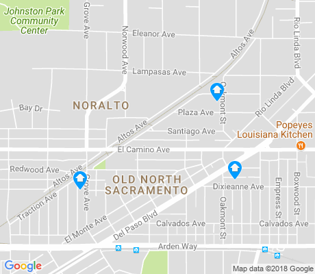 map of Noralto apartments for rent