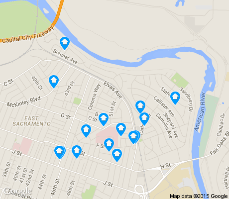 map of River Park apartments for rent