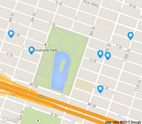 map of Southside Park apartments for rent