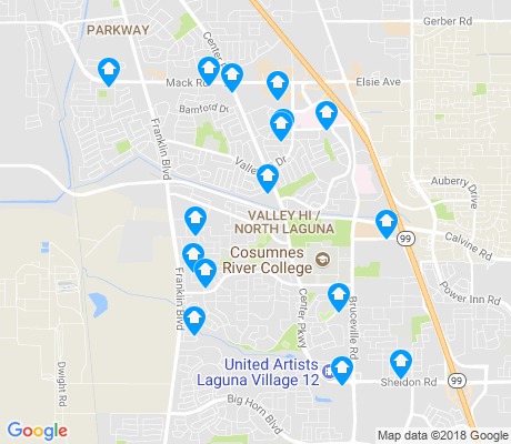 map of Valley Hi - North Laguna apartments for rent