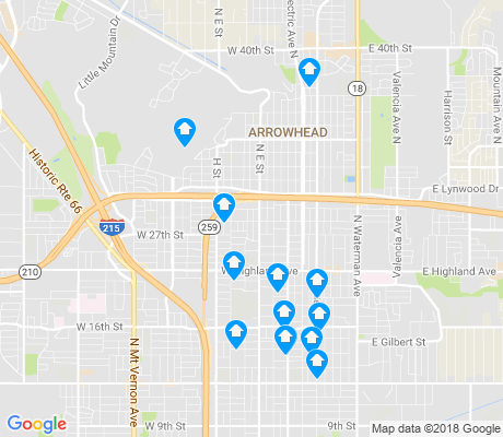 map of 92405 apartments for rent