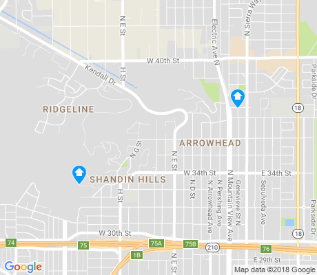 map of Arrowhead apartments for rent