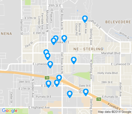 map of DRNAG apartments for rent