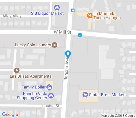 map of Rancho West apartments for rent