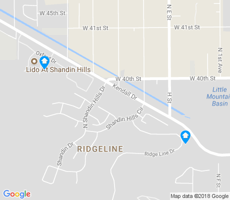map of Ridgeline apartments for rent