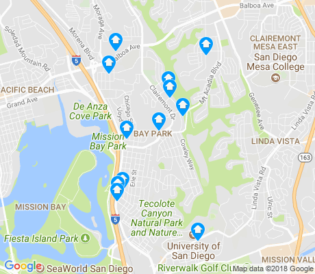 map of Bay Park apartments for rent