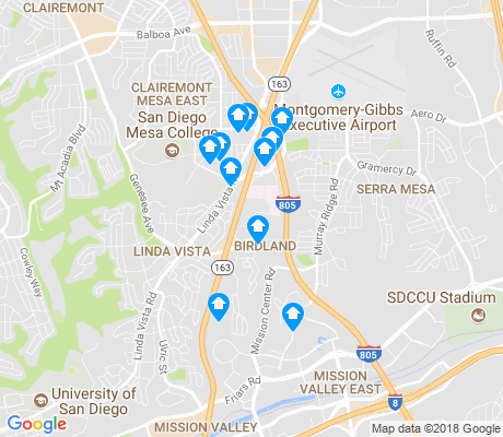 map of Birdland apartments for rent