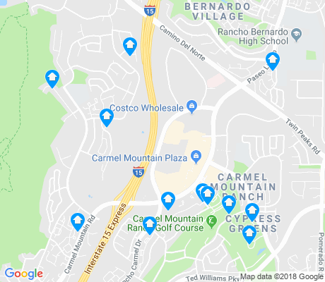 map of Carmel Mountain apartments for rent