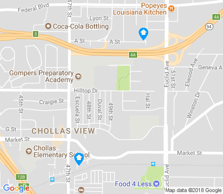 map of Chollas View apartments for rent