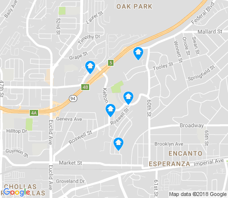 map of Emerald Hills apartments for rent