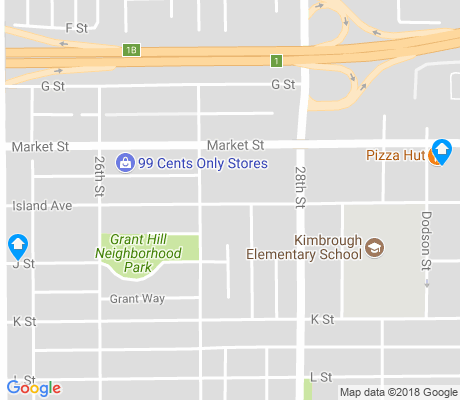 map of Grant Hill apartments for rent