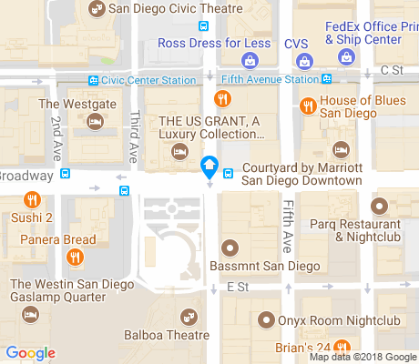 map of Horton Plaza apartments for rent