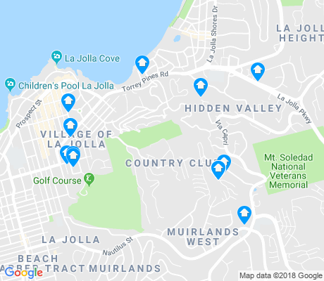 map of La Jolla apartments for rent
