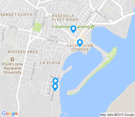 map of La Playa apartments for rent
