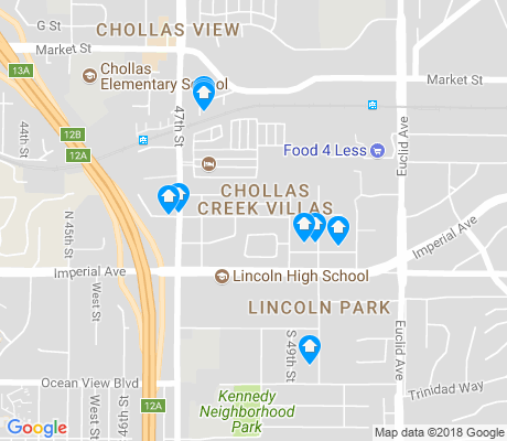 map of Lincoln Park apartments for rent