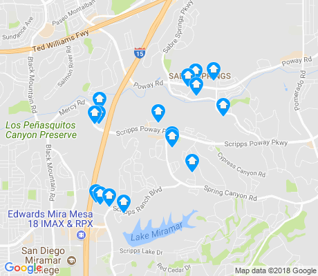 map of Miramar Ranch North apartments for rent