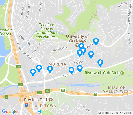 map of Morena apartments for rent