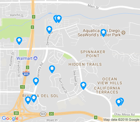 map of Ocean Crest apartments for rent
