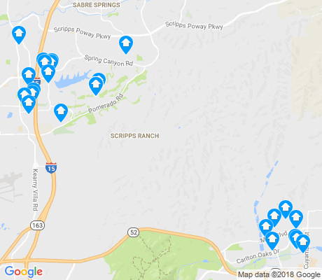map of Scripps Ranch apartments for rent